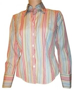 Ann Taylor Button Down Shirt Multi