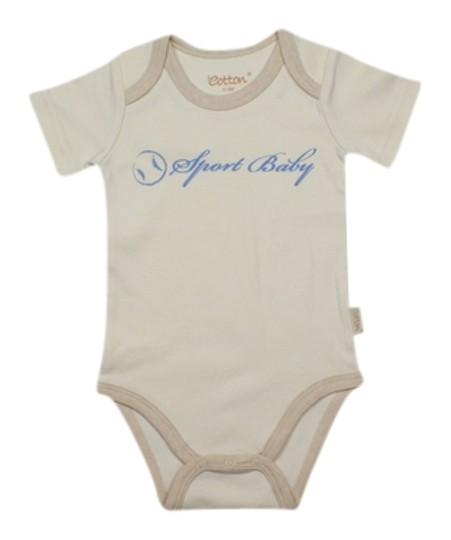 Eotton Certified Organic Cotton Sport Baby Bodysuit-medium (6-9 months)