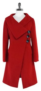 Marc Jacobs Red Wool Blend Coat