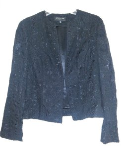 Jones New York Embroidered Black Blazer