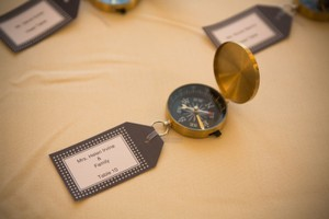 Gold with Black Interior 5 Compass (Never Used) Wedding Favors