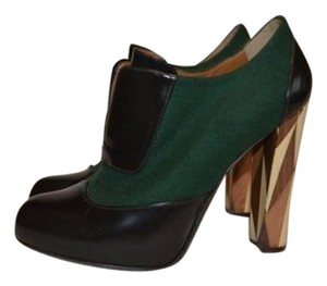 Fendi Black Heels Green Boots