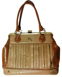 BCBGeneration Fake Leather Crocadile Tan Doctor Satchel in Camel