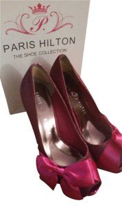 Paris Hilton dark pink fuscia Platforms