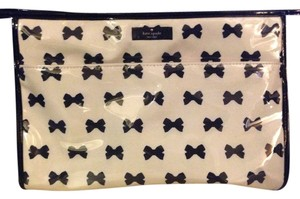 Kate Spade Kate Spade Heddy Tuxedo Court Large Cosmetic Bow Gym Black Travel Tote Bag