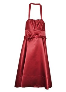 BCBGMAXAZRIA Satin Halter Dress