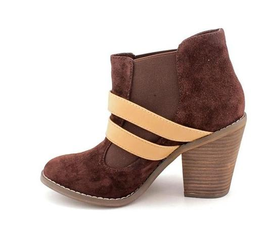 Kelsi Dagger Suede Leather Deep Chocolate Brown Boots Image 1