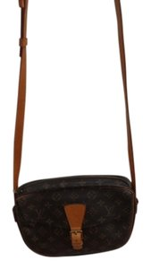 Louis Vuitton Vintage Monogram Canvas Leather Handles Cross Body Bag