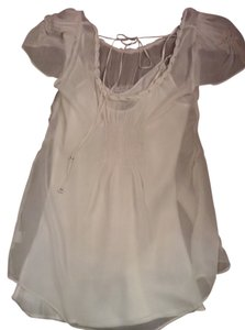 Satin Crepe Beaded Top white cream beige