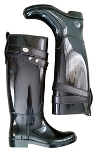 Coach Wellies Black patent Boots