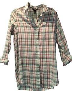 H&M New Button Down Shirt Plaid