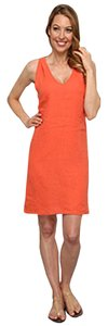 Tommy Bahama short dress Burnt Coral Tie Linen on Tradesy
