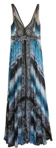Black/white/gray/turquoise Maxi Dress by White House | Black Market