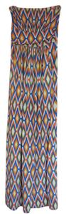 Blue/orange/yellow/white Maxi Dress by Other