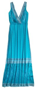 Turquoise Maxi Dress by Calypso St. Barth Silk Bohemian Maxi