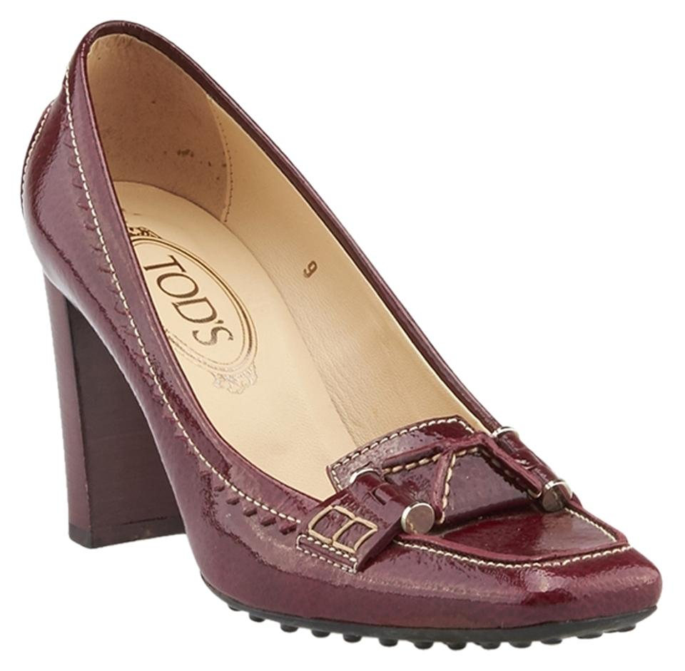 Tod's Red Red Tod's Patent Leather (74685) Pumps ed45b9