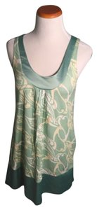Express short dress Green/Cream on Tradesy
