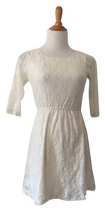 Diane von Furstenberg short dress Off White on Tradesy
