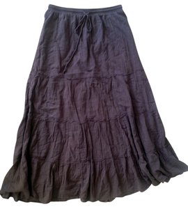 Mudd Casual Full Length Maxi Maxi Skirt Brown
