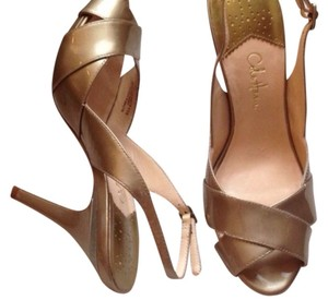 Cole Haan Sandals Formal Slingback Gold Pumps