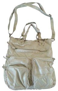 Maurices Neutral Roomy Faux Leather Pockets Shoulder Bag