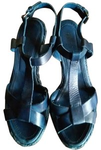 Other Wedge High Heels BLUE MIDNIGHT ELECTRIC NAVY Sandals