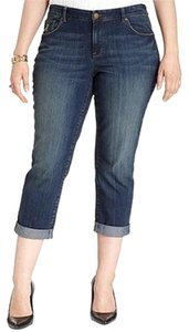 Style & Co Curvy Plus Size 24w Ankle Boyfriend Cut Jeans-Medium Wash