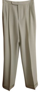 Ralph Lauren Label Off Wool Cuffed Pleated Trouser Pants Light Mint Green
