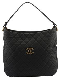 Chanel Caviar Quilted Leather Hobo Bag
