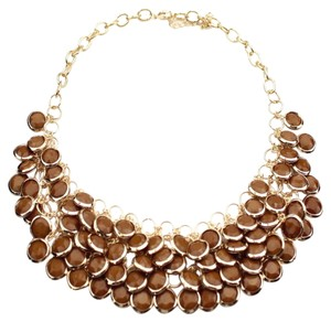 Multi-Layered Beaded Brown Fashion Statement Necklace