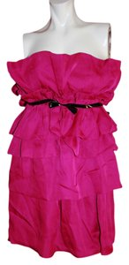 Giambattista Valli Above Knee Ruffled Tiered Atrapless Dress