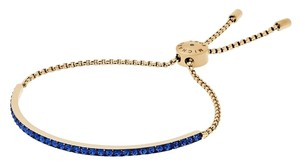 Michael Kors Michael Kors MKJ4987 Blue Crystal Bar Gold Adjustable Chain Bracelet