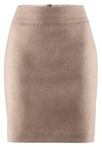 H&M Tweed Natural Pockets Thick Waistband Skirt Tan