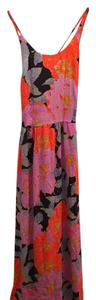 Purple/Blue/Orange Print Maxi Dress by Ann Taylor LOFT Maxi