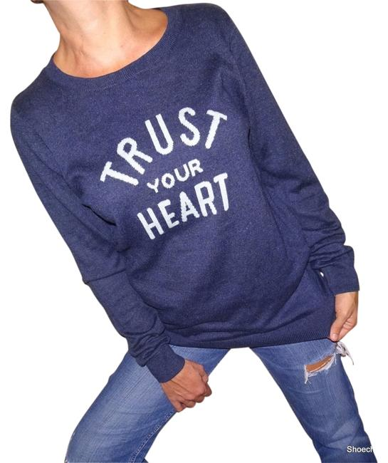 Item - Trust Your Heart Blue Sweater
