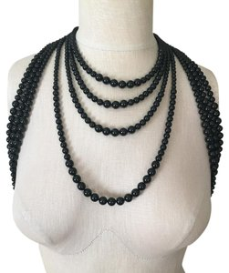 Chanel Chanel Runway Statement Long Black Pearl Necklace