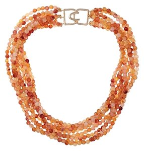 Kenneth Jay Lane Kenneth Jay Lane Amber Bead Multi Row Necklace