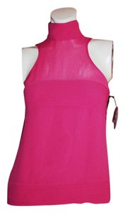 Karl Lagerfeld Sleeveless Turtleneck Top Pink