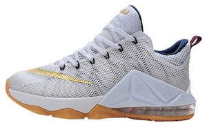 Lebron's White/gold Athletic