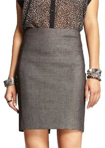 Express Knee Length Gray Skirt Charcoal