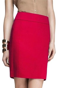 Express Knee Length Pink Skirt Magenta