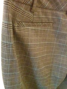 Massimo Stretch Wide Leg Pants PLAID GREY BROWN BLUE