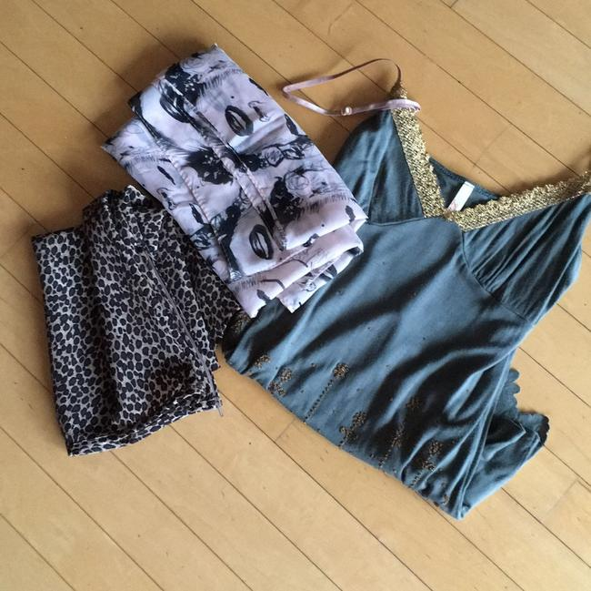 Item - Marilyn Monroe Scarf. Leopard Skirt and Lush Tank Top/Cami Size 8 (M)