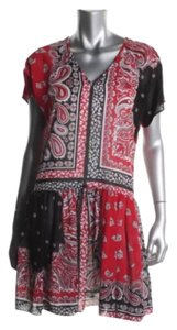 MICHAEL Michael Kors short dress Red Paisely Print on Tradesy
