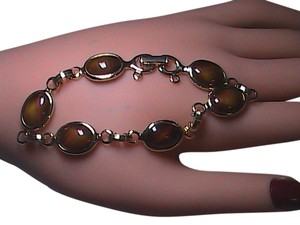 Sarah Coventry The 70's Sarah Coventry WOOD NYMPH Faux Tiger Eye Bracelet