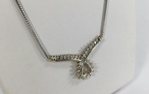 Zales 2.0 TCW Round Cut Diamond Necklace In 14K White Gold