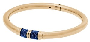 Michael Kors Michael Kors MKJ5092 Park Ave Blue Pave Crystal Gold Bangle Bracelet