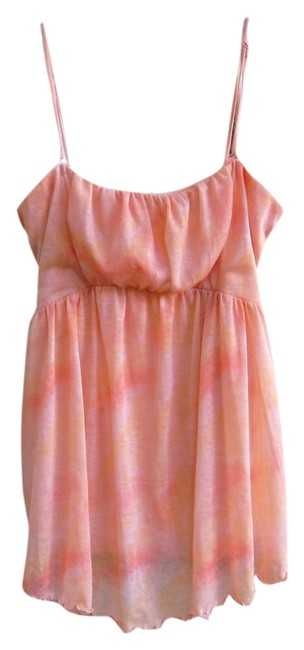 Free People Convertible Tie Dye Top Orange and white