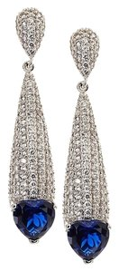 CZ by Kenneth Jay Lane CZ by Kenneth Jay Lane Elongated CZ Sapphire Dramatic Post Earrings