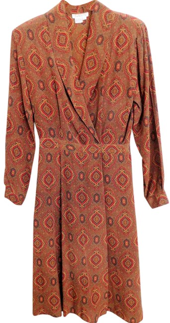 Talbots Great Fall Multi-color No Short Night Out Dress Size 4 (S) Talbots Great Fall Multi-color No Short Night Out Dress Size 4 (S) Image 1